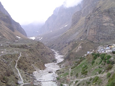 River Flowing Near Badrinath