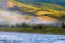 River Shishged In Mongolia