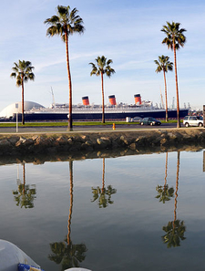 RMS Queen Mary - Long Beach Harbor View