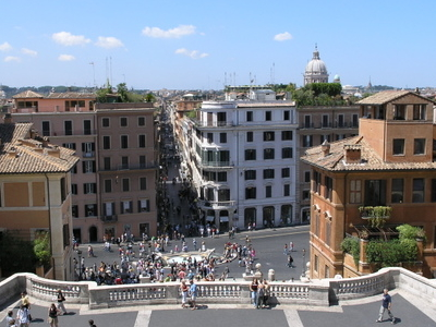 View Of Piazza Di Spagna From The Stairs