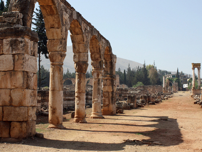 Ruins Of The Umayyad City Of Anjar