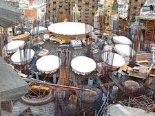 Sagrada Familia's Roof Under Construction