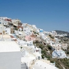 Santorini View From Village Of Oia
