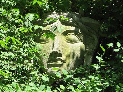 Sculpture Inside Cleveland Botanical Garden