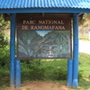 Sign At The Entrance To Ranomafana National Park