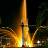 Night View Of A Fountain In Bekapai Park