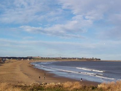 South  Shields  Beach In  Winter