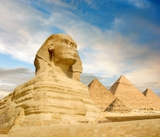 Sphinx & Pyramids At Giza