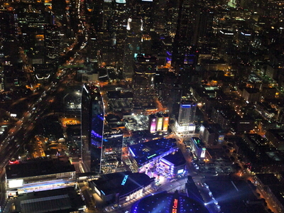 Night View Of Staples Center And L.A. Live