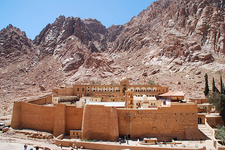 St. Catherine Monastery With Landscape - Egypt Sinai