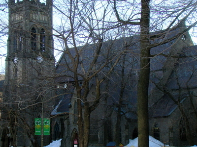 St. George's Anglican Church From Place Du Canada