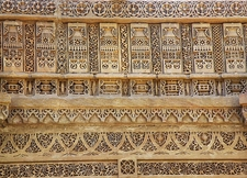 Stone Carving At Adalaj Stepwell