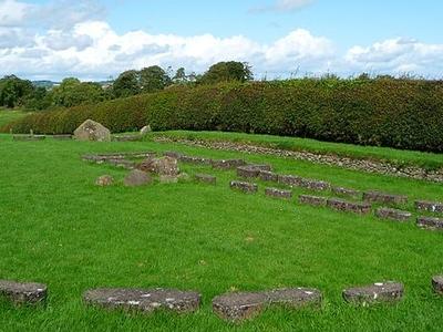 Stone Circle At Newgrange