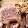 Stone Elephant On Wall