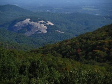 Stone Mountain From Blue Ridge Parkway NC
