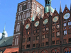 Stralsund Old Market Square With The Town Hall And The Nikolaiki