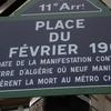 Street Sign Of Place Du 8 Février 1962