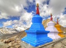 Stupas & Ladakh Range