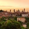 Sunrise At Bergamo Old Town In Lombardy