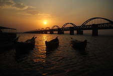 Sunset At Godavari River