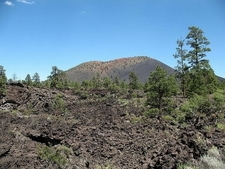 Sunset Crater Seen From The Lava Flow