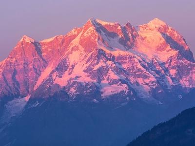 Sunset Over Mount Chaukhamba UT Indian Himalayas