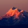 Sunset Over Mount Trisul In Uttarakhand Himalayas