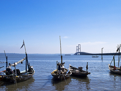 Suramadu Bridge & Boats