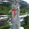 Marked Hiking Route In Junkerdal