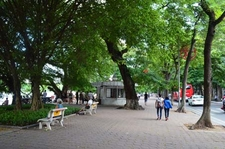 Street Near Hoan Kiem Lake