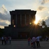 Sun Seting Behind The Mausoleum