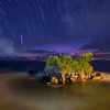 Tanah Lot With Night Sky