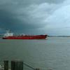 Tanker IVER SPRING On Mississippi River