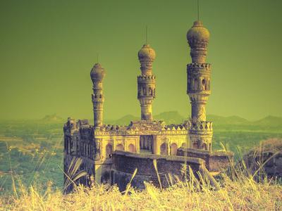 Teen Minar At Elgandal Fort In Karimnagar