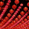 Thean Hou Temple Decorative Lanterns