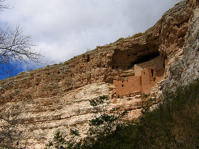 The Cliff Dwellings At Montezuma Castle National Monument
