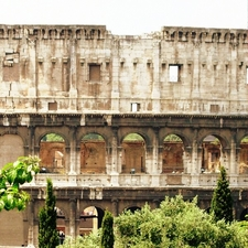 The Colosseum - A View From The Oppian Hill