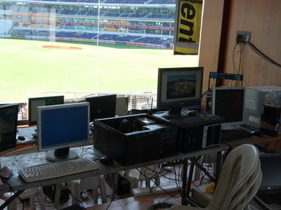 The On Ground Scorecard And Big Screen Control Room