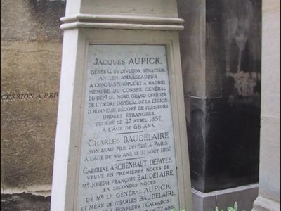 Tomb Of Charles Baudelaire