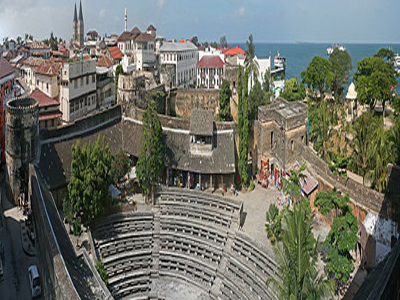 The Old Fort Of Zanzibar And Part Of The Stone Town