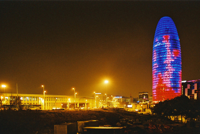 Torre Agbar By Night