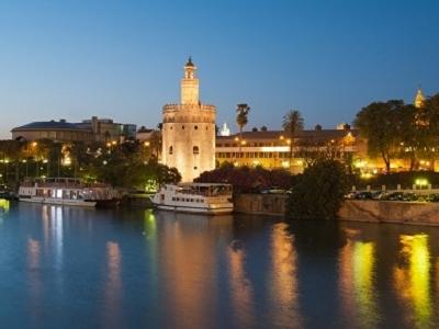 Torre Del Oro Golden Tower In Seville - Spain Andulasia