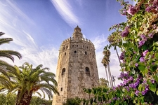Torre Del Oro Monument - Seville - Spain Andalusia
