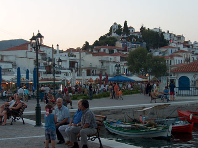 Town Of  Skiathos