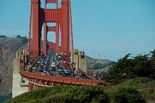 Traffic On SF Golden Gate Bridge