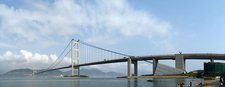 Tsing Ma Bridge Viewed From Tung Wan Beach