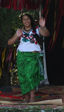 Tuvaluan Dance At Pasifika Festival