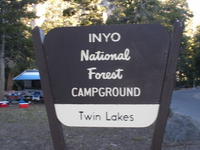 Inyo Twin Lakes Campground