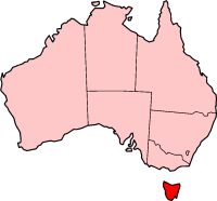 Tasmania In  Australia Map