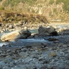 The Nandakini River Foreground Meets The Alaknanda River Background In Nandaprayag